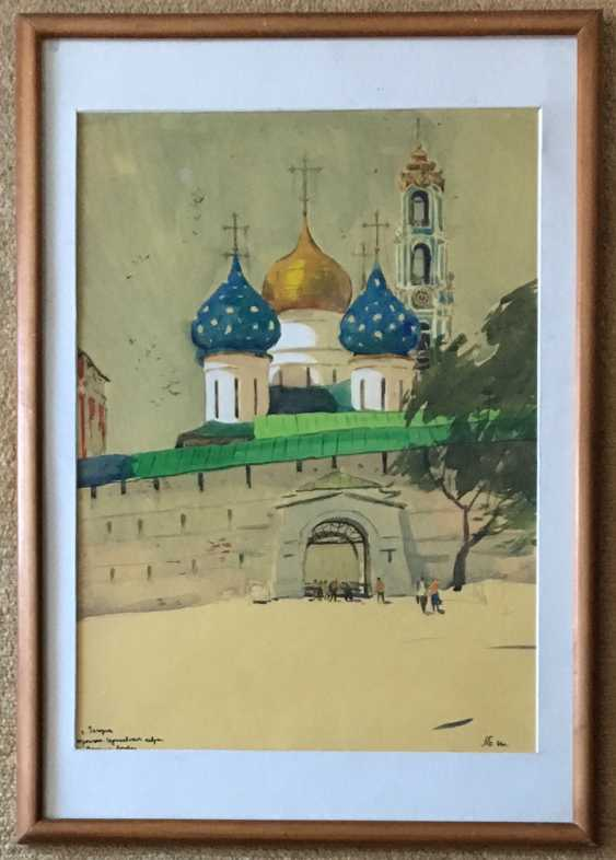 "Belsky, M. L. ""Zagorsk, Trinity-Sergius Lavra, the Entrance gate"", 1966 - photo 1"