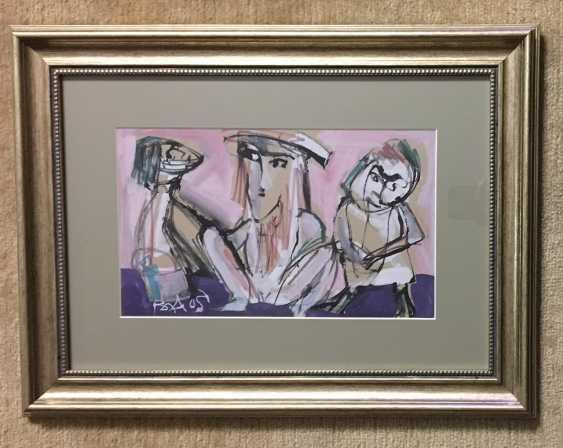 """Akulov V. I. """"Three on a pink background"""", 2003. - photo 1"""