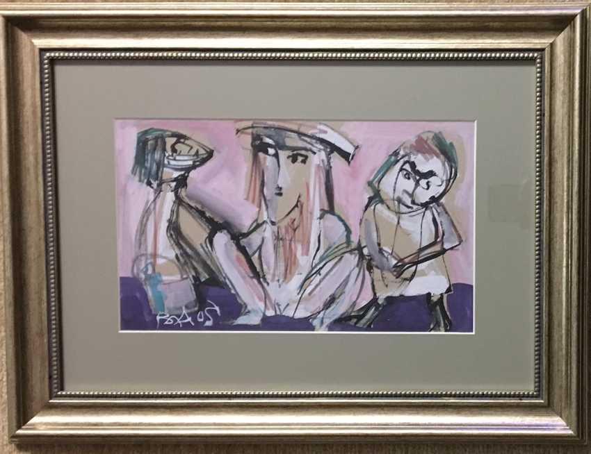 """Akulov V. I. """"Three on a pink background"""", 2003. - photo 2"""