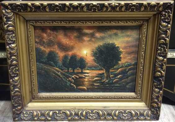 """Sunset on the stream"", the twentieth century - photo 1"