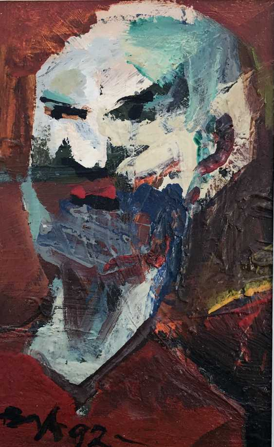 "Akulov V. I., ""Self-Portrait. Angry"", 1992 - photo 3"