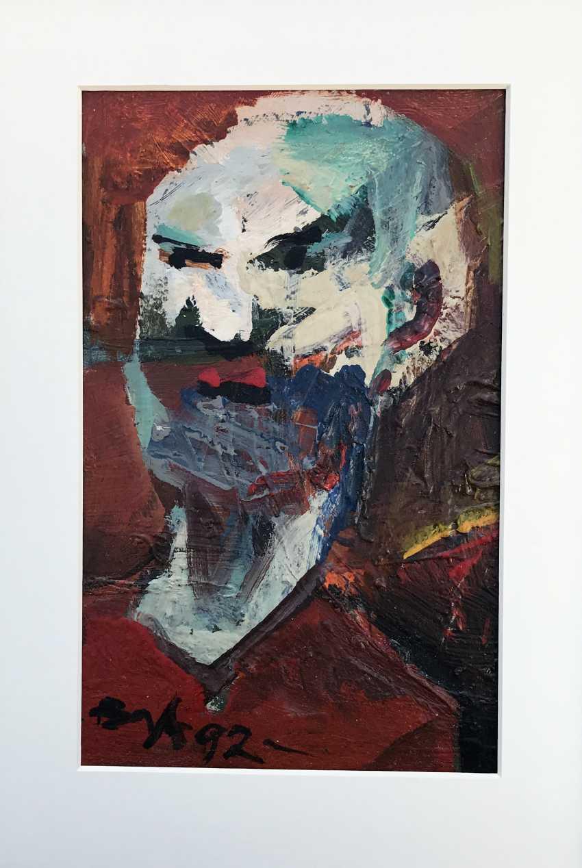 "Akulov V. I., ""Self-Portrait. Angry"", 1992 - photo 5"