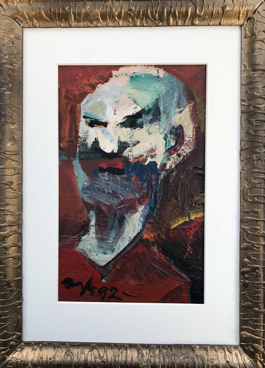 "Akulov V. I., ""Self-Portrait. Angry"", 1992 - photo 2"
