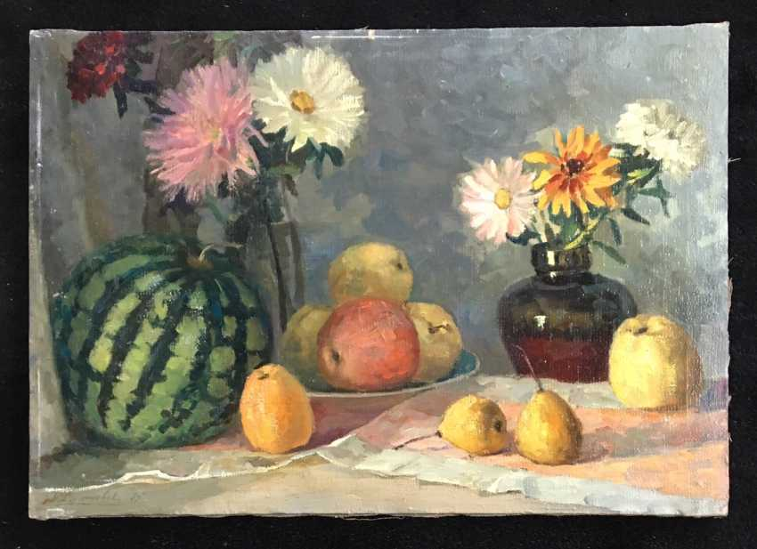 """Korzeniowski A. S. """"Watermelon with apples"""", 1975 - photo 1"""