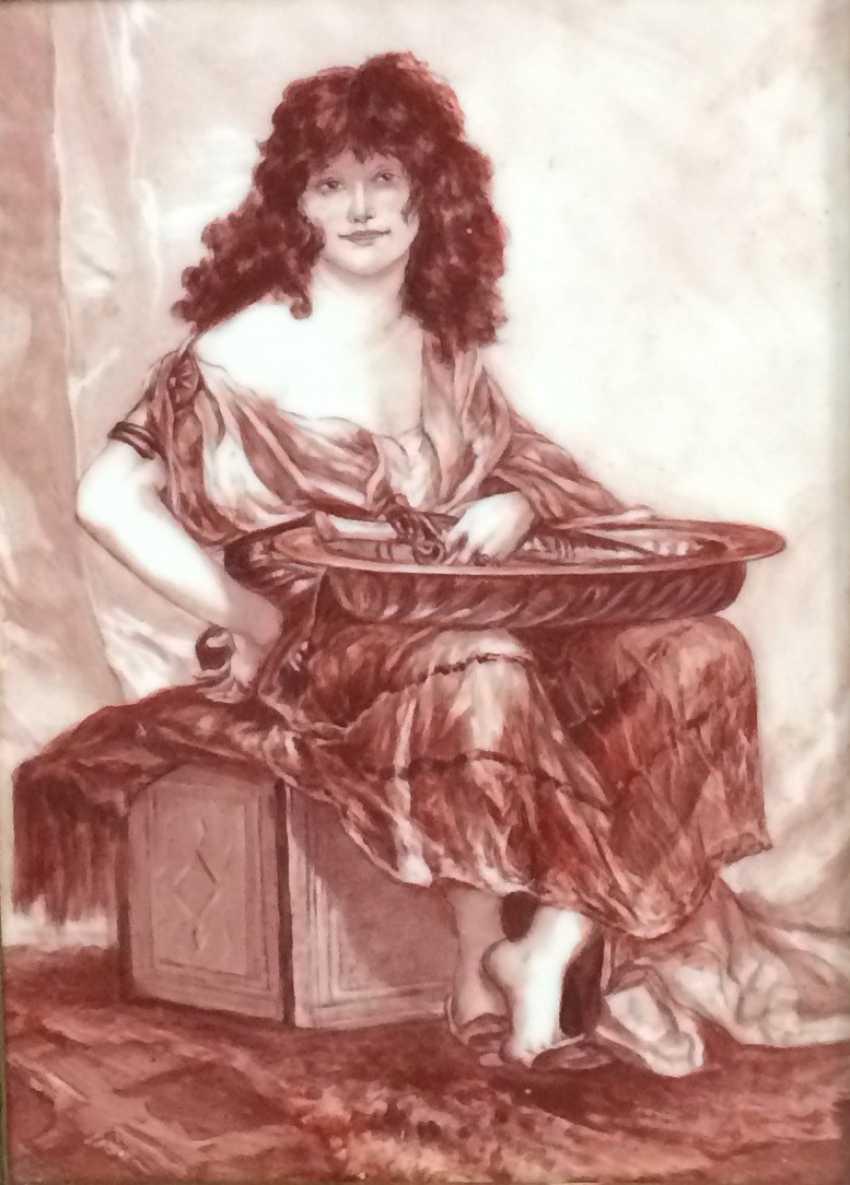 Picture/Painting on porcelain plaque, XIX - n. XX centuries. - photo 2