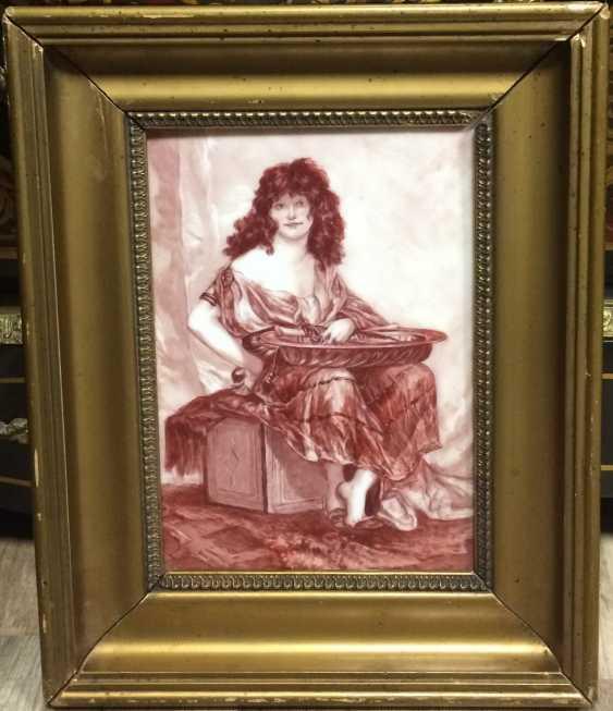 Picture/Painting on porcelain plaque, XIX - n. XX centuries. - photo 1