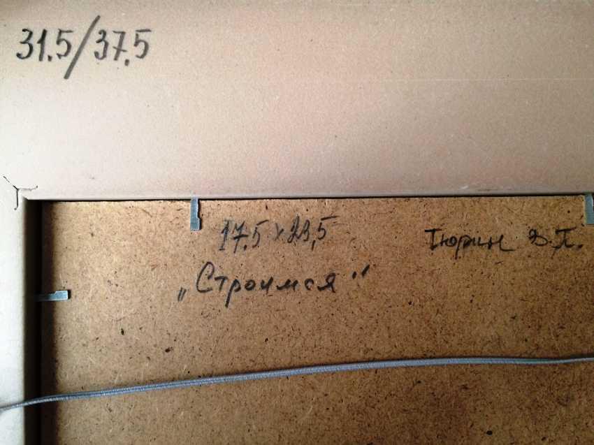 "Tyurin V. P. ""Build"",1950 G. - photo 2"
