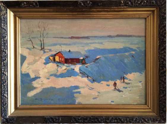 "Pluzhnikov, A. A., ""Winter morning"", 1963. - photo 1"