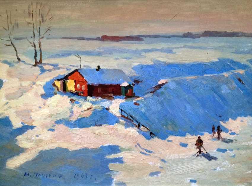 "Pluzhnikov, A. A., ""Winter morning"", 1963. - photo 2"