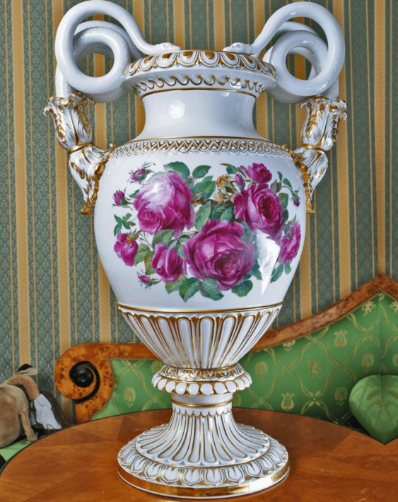 Meissen, Germany, 1910 - e gg, porcelain, double-sided painting - photo 1