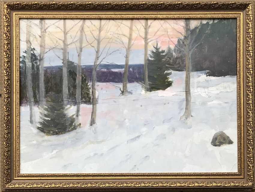 "Azgur (Gorelova) G. G. Etude ""Winter"", 1949 - photo 1"
