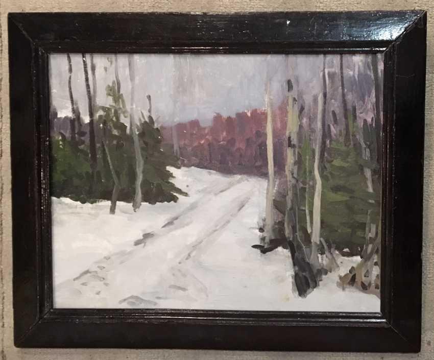 """Azgur (Gorelova) G. G. - """"Winter path"""", 1954 - photo 1"""