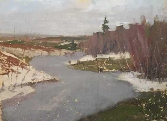 """Azgur (Gorelova) - """"Belarusian landscape"""", 1950 - photo 4"""