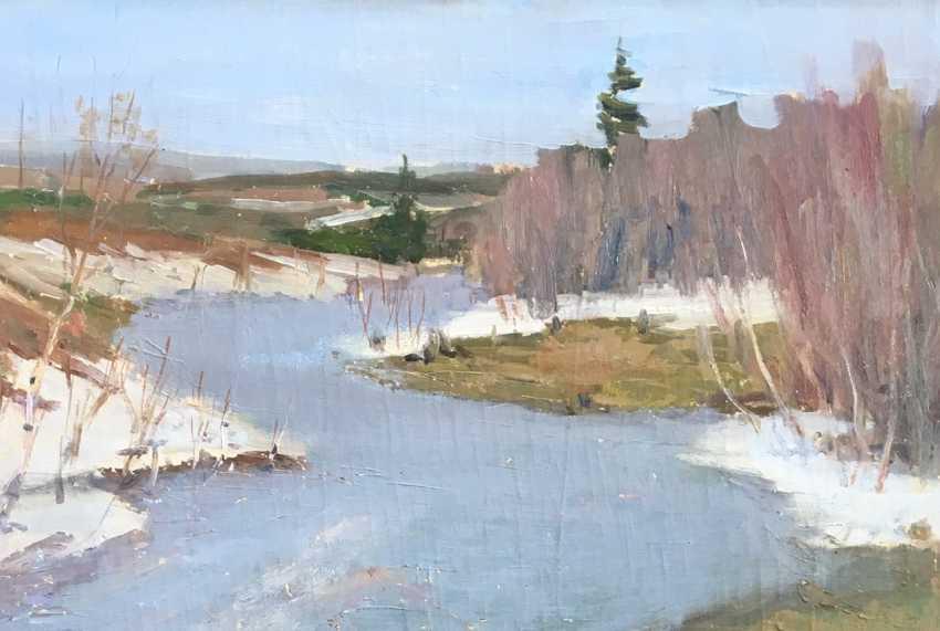 """Azgur (Gorelova) - """"Belarusian landscape"""", 1950 - photo 2"""