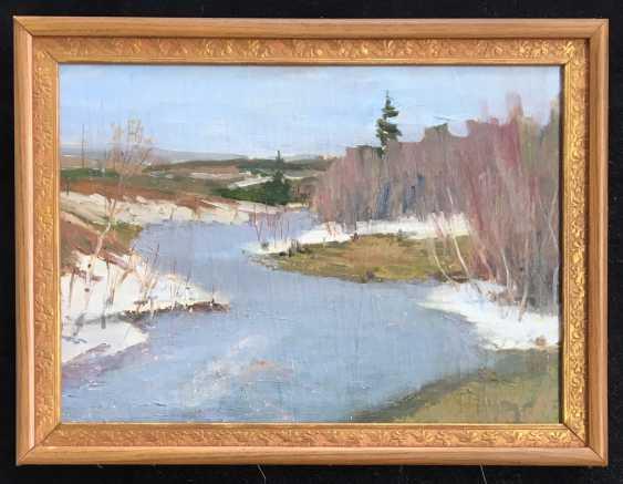 """Azgur (Gorelova) - """"Belarusian landscape"""", 1950 - photo 1"""