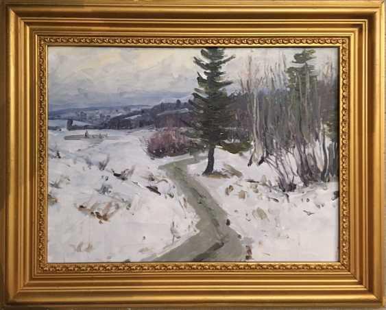 """Azgur (Gorelova) G. G. - """"Winter path (melted)"""", 1954 - photo 1"""