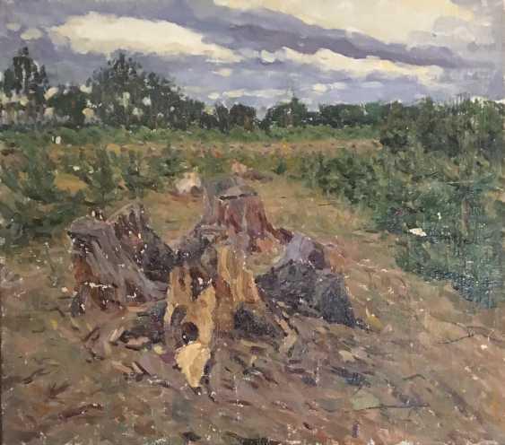 """Azgur (Gorelova).G. - """"Edge of forest"""", 1953. - photo 1"""