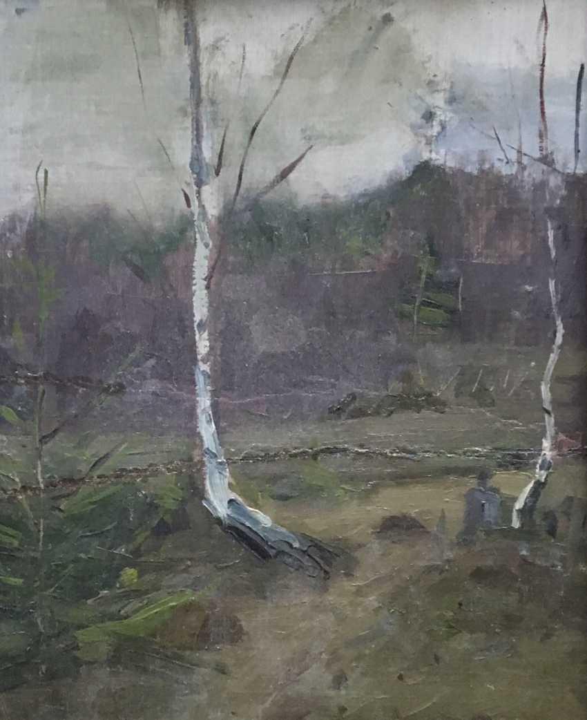 """Azgur (Gorelova) G. G. - """"Birches"""", 1950 - photo 3"""
