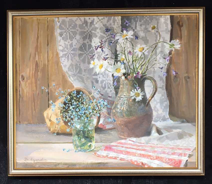 """Khodorovich and V. P. - """"still life with flowers"""", 2015 - photo 1"""