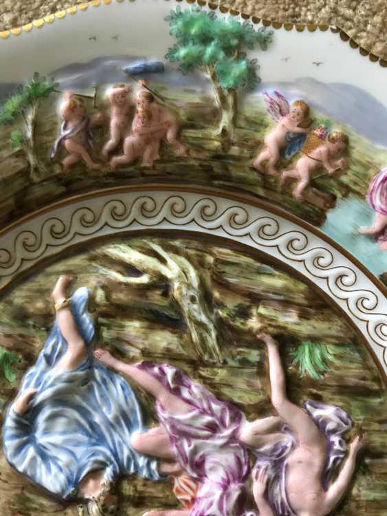 Capodimonte. Teller. Italien, XIX. - Foto 3