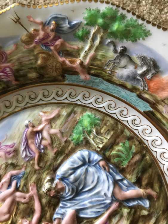 Capodimonte. Teller. Italien, XIX. - Foto 4