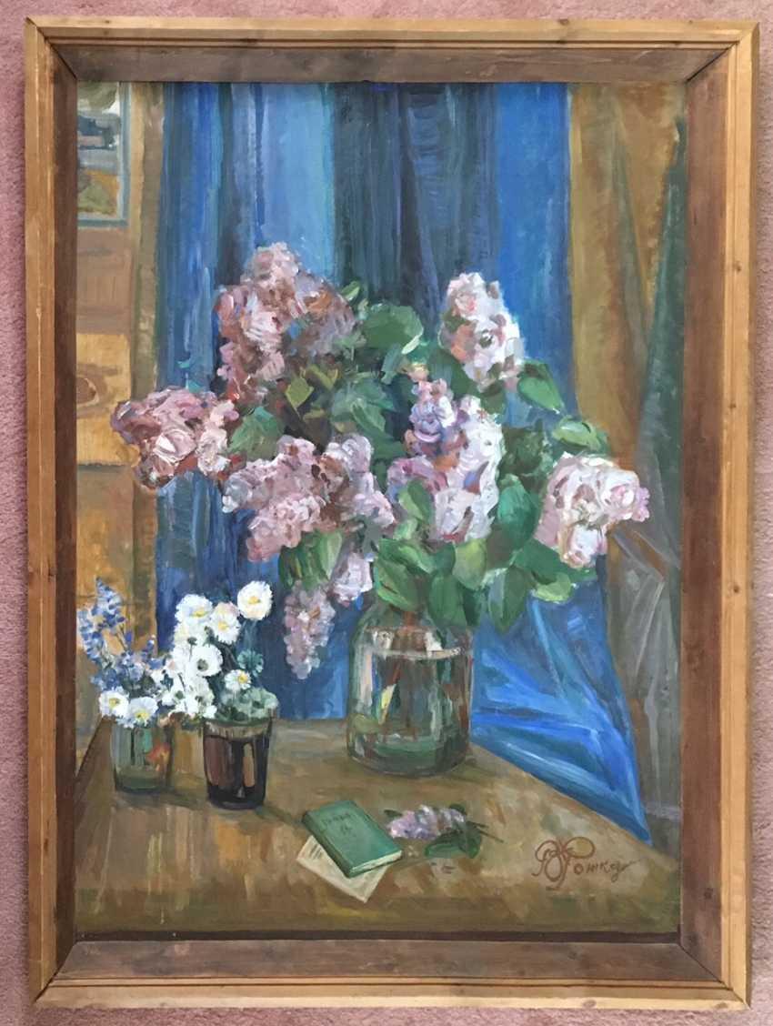 "Rozhkov V. 3. - ""Lilac flowers"", 1978 - photo 1"