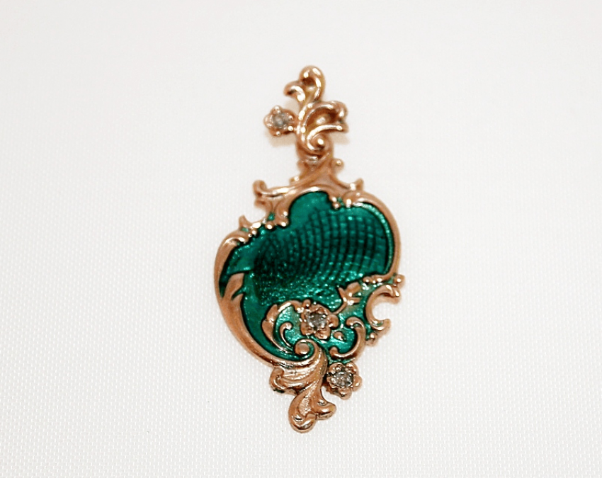 Pendant with enamel - photo 1
