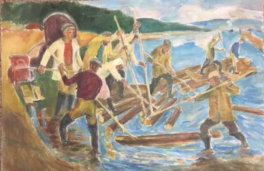 "Crealev PS ""rafting"",1977 - photo 1"