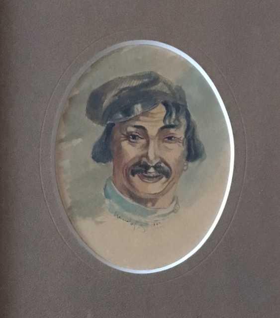 """Ivanov V. """"Porträt eines Mannes"""", 1908 - Foto 2"""