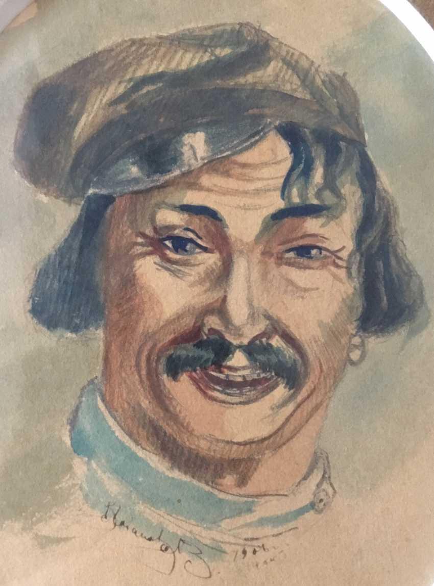 """Ivanov V. """"Porträt eines Mannes"""", 1908 - Foto 3"""
