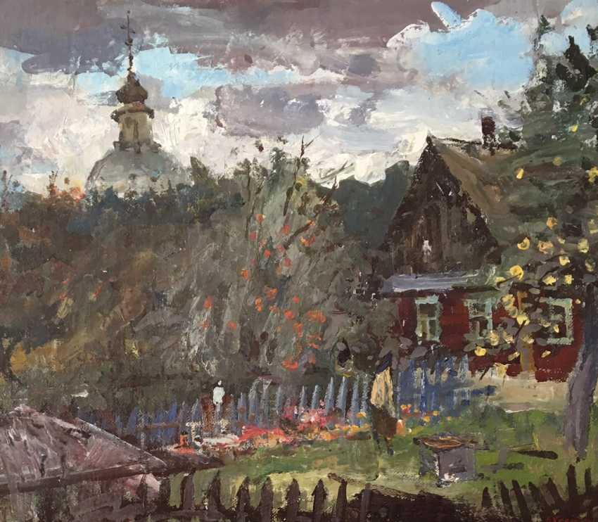 """Хмелевский В.В. """"Ветреный день"""", 1989 год - фото 3"""