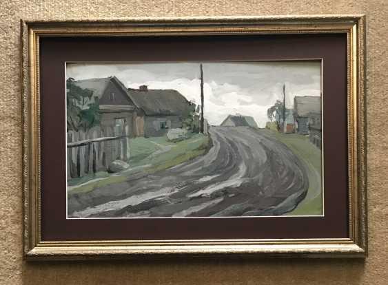 """Stasevich I. N. """"Belarusian village"""", XX century. - photo 3"""