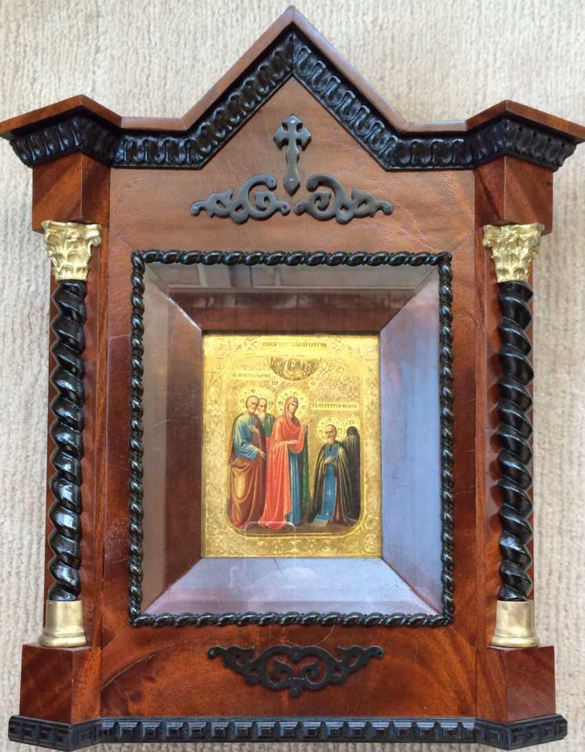 "Malyshev I. M. The Trinity-Sergius Lavra""Appearance Of The Virgin To Sergius Of Radonezh"". The Trinity-Sergius Lavra. 2 floors. XIX century. - photo 2"