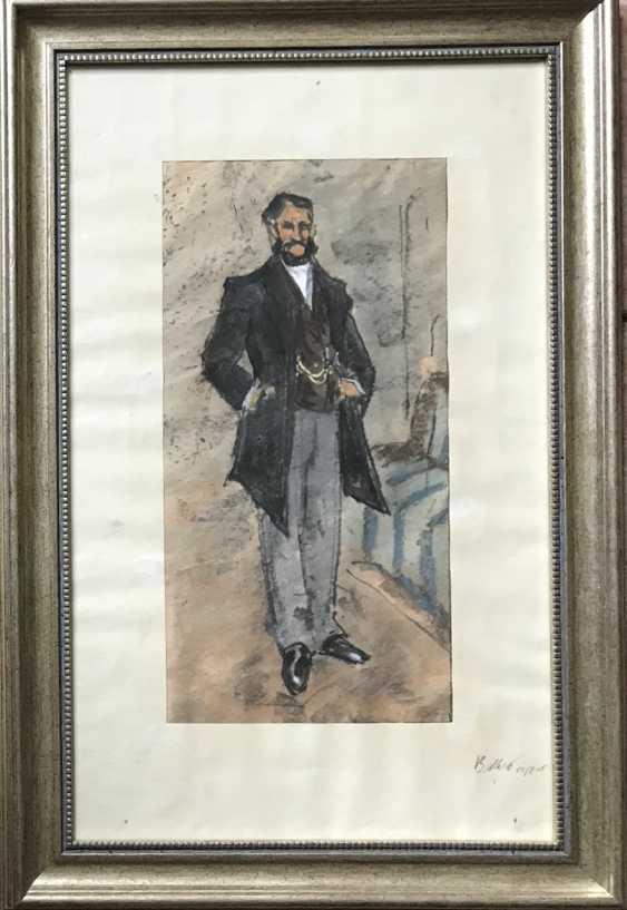 """Kubarev V. G. - """"the Gentleman"""", XXth century - photo 1"""