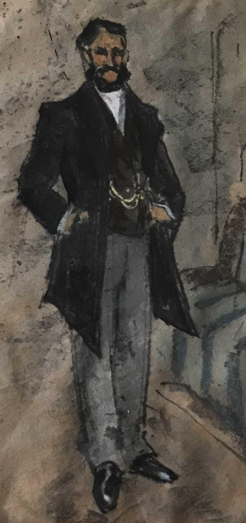 """Kubarev V. G. - """"the Gentleman"""", XXth century - photo 2"""