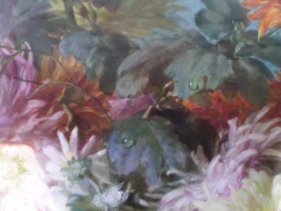 Meissen porcelain brown village of flowers plaque - photo 9