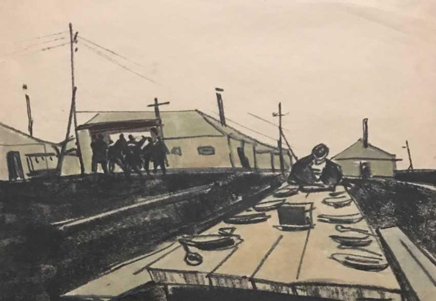 """Kubarev V. D. """"a Sketch for the film"""", XX century. - photo 3"""
