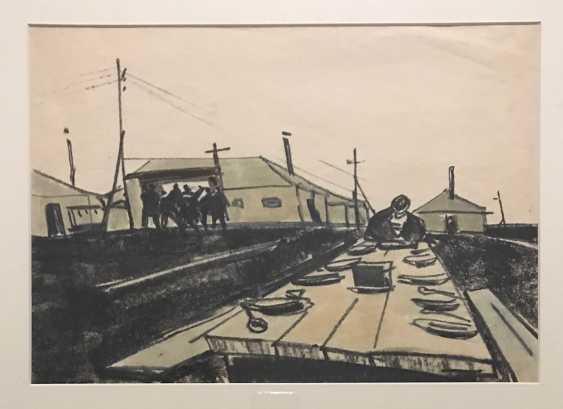 """Kubarev V. D. """"a Sketch for the film"""", XX century. - photo 4"""