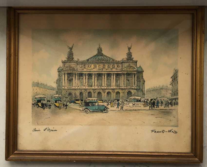 """Pair of paintings, """"Paris"""". Europe, 1st half of XX century. - photo 2"""
