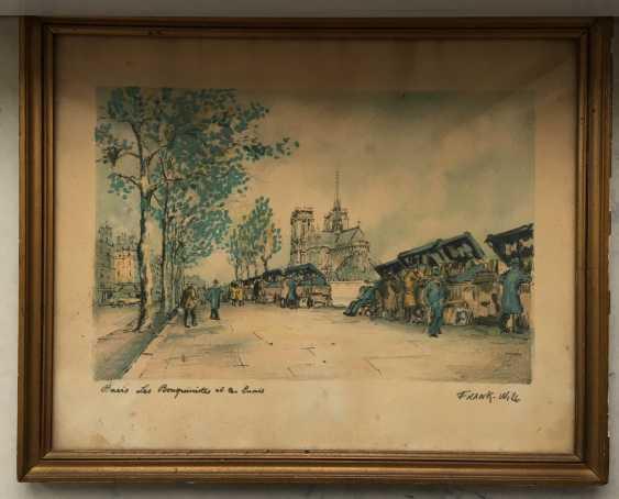 """Pair of paintings, """"Paris"""". Europe, 1st half of XX century. - photo 3"""