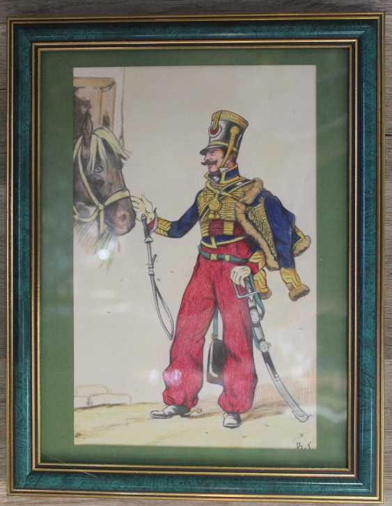 """The adjutant of Marshal in the uniform of 1812"". France, 1920-30s. - photo 1"