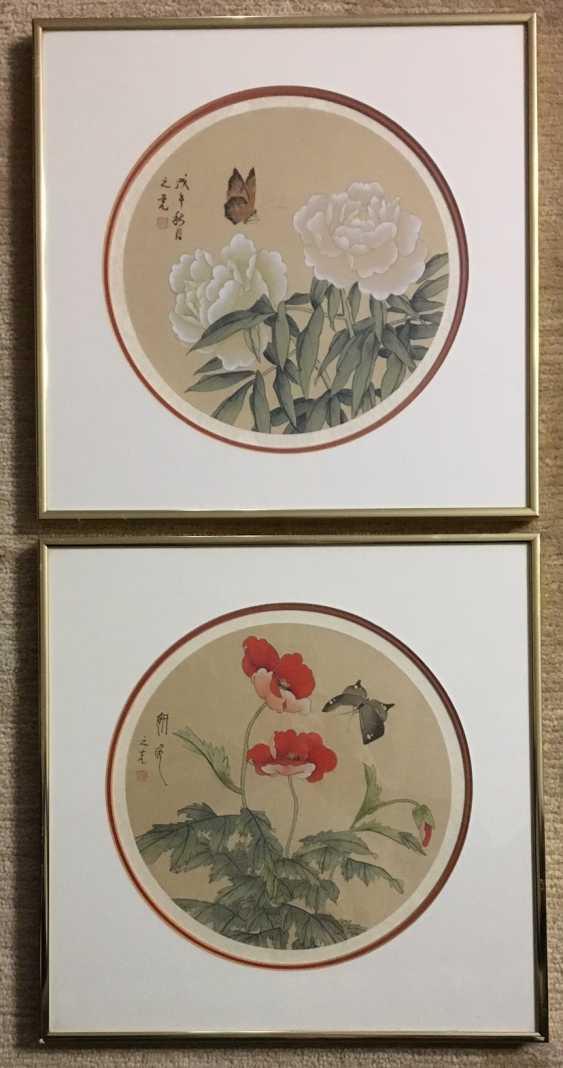 Pair of paintings - Chinese batik, ser. XX century. - photo 1