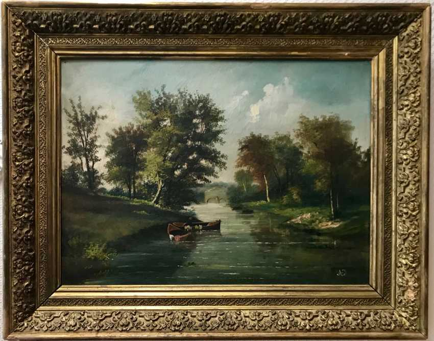 """Summer landscape"". Europe, XIX century - photo 1"
