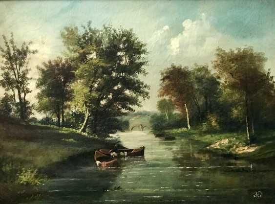 """Summer landscape"". Europe, XIX century - photo 2"