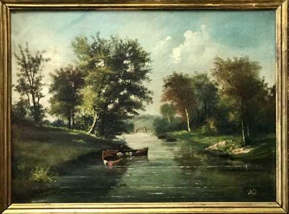 """Summer landscape"". Europe, XIX century - photo 3"