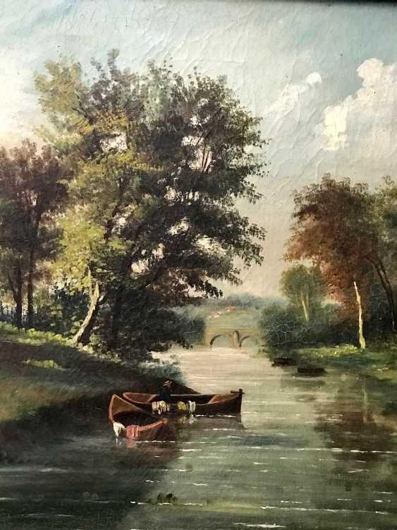 """Summer landscape"". Europe, XIX century - photo 4"