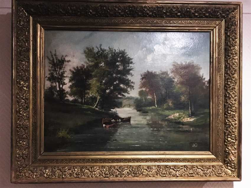 """Summer landscape"". Europe, XIX century - photo 5"
