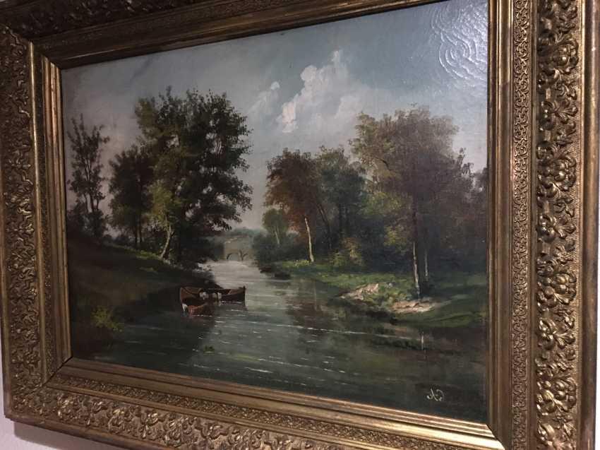 """Summer landscape"". Europe, XIX century - photo 9"