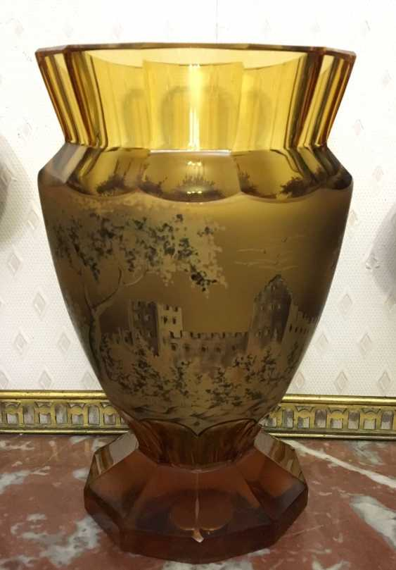 Vase glass. Europe, early XX century. - photo 4