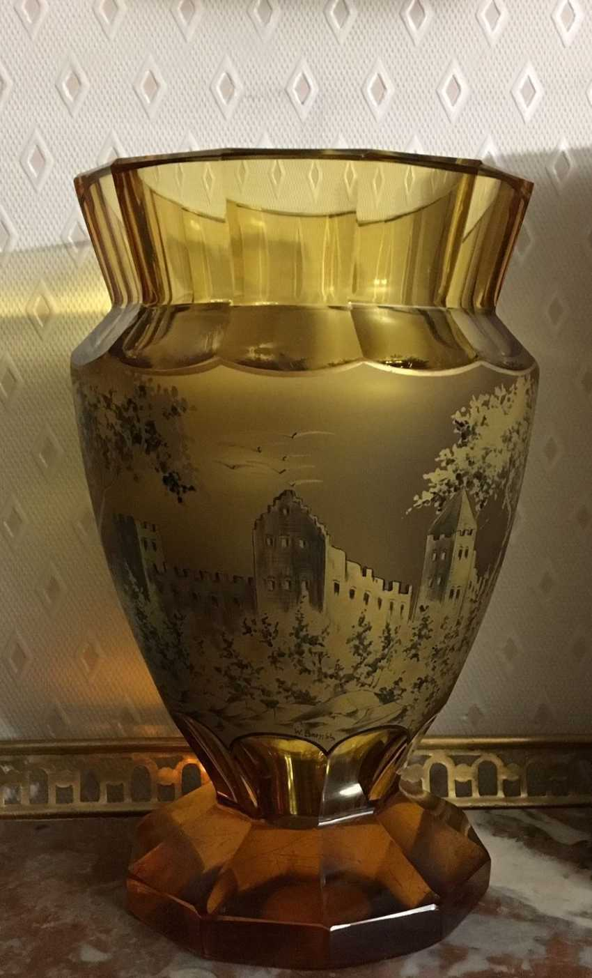 Vase glass. Europe, early XX century. - photo 5